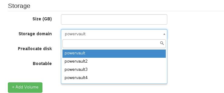 Bug #13595: Storage domain dropdown menu doesn't work - Foreman