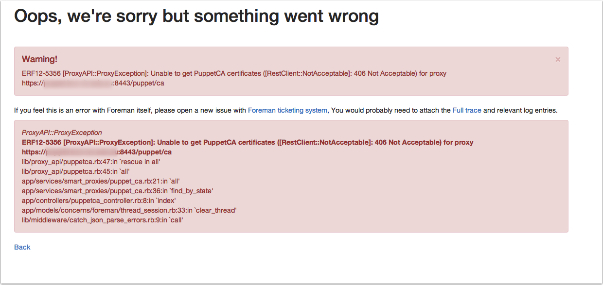 Support #6877: ERF12-5356 [ProxyAPI::ProxyException]: Unable to get ...
